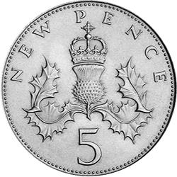 5p New Pence