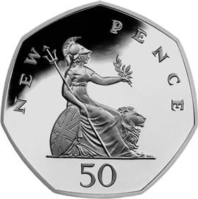 UK '50 New Pence'Circulation 50p