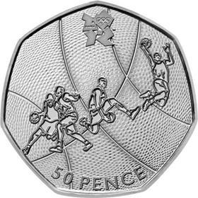 UK 2011 Olympics Basketball Circulation 50p