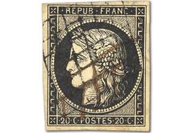 France's First Ever Postage Stamp