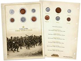 Own 6 original coins from the First World War