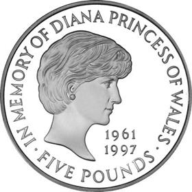 1999 Princess Diana Memorial £5