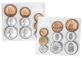 The very first coins of Her Majesty's reign - sealed in original packa