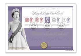 The UK Longest Reigning Monarch Coin Cover