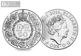 2016 UK 90th Birthday CERTIFIED BU £5