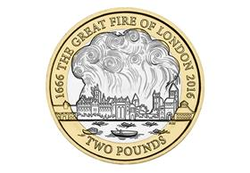 2016 UK Great Fire of London Circulation £2