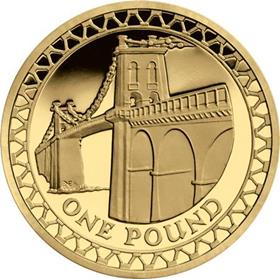 UK 2005 Menai Bridge Circulation £1