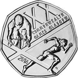 2014 UK Commonwealth Games Circulation 50p
