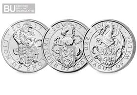 Lion, Unicorn and Dragon Queen's Beasts £5 Set