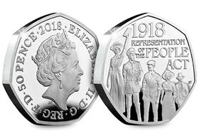 UK 2018 Representation of the People Act Silver Proof Piedfort 50p