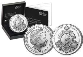2014 Queen Anne Silver Proof £5