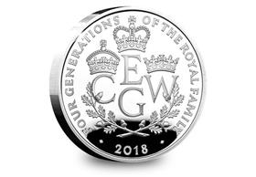 UK 2018 Four Generations of Royalty Silver Proof £5