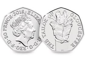 2018 UK Tailor of Gloucester CERTIFIED BU 50p