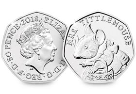 2018 UK Mrs Tittlemouse CERTIFIED BU 50p