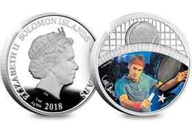 The Sports Legends Roger Federer Silver 1oz Coin