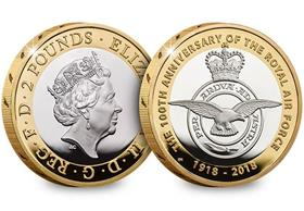 UK 2018 RAF Centenary Silver Proof £2