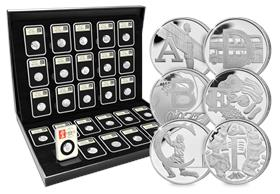 The 2018 DateStamp UK A-Z Silver 10p Coin Set