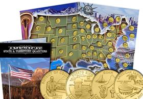 US Gold-Plated State & Territory Quarters