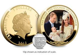 The Christening of Prince George 65mm Photographic Coin