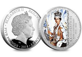 The Queen's 65th Coronation Anniversary Silver Proof Five Pound Coin