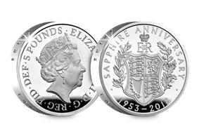 UK 2018 Coronation Jubilee Silver Proof Piedfort £5