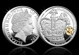 The Queen's 65th Coronation Anniversary Silver Five Pound Proof Coin