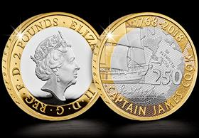 UK 2018 Captain Cook Silver Proof £2