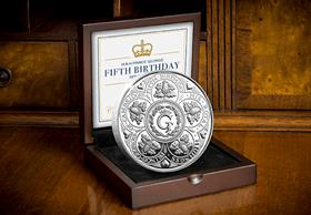 HRH Prince George's Fifth Birthday Silver Proof Five Pound Coin
