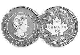 Canada 2017 Pure Silver Heart of our Nation