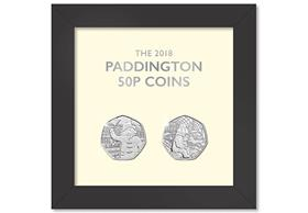 UK 2018 Paddington 50p Framed Set