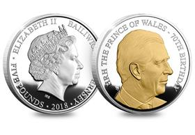 HRH Prince Charles 70th Birthday Proof Coin