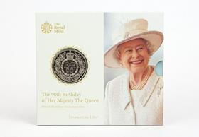 2016 UK Queen's 90th Birthday £5 Coin Pack