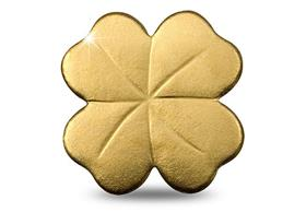 The 1/2g Gold Four Leaf Clover Coin