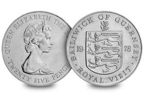 Guernsey 1978 Royal Visit 25p