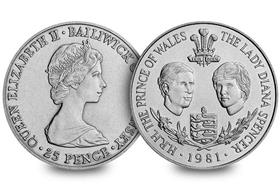 Guernsey 1981 Royal Wedding 25p