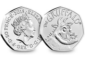 2019 UK The Gruffalo® CERTIFIED BU 50p