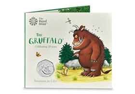 UK 2019 The Gruffalo 50p BU Pack