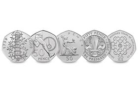50th Anniversary of the 50p CERTIFIED BU Coin