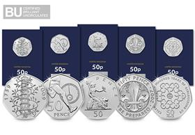 50th Anniversary of the 50p CERTIFIED BU Set