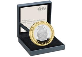 UK 2019 Wedgwood £2 Silver Proof