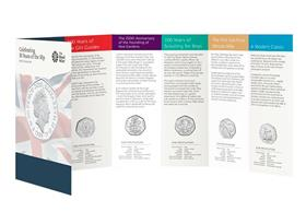 UK 2019 50th Anniversary of the 50p BU Pack