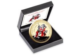 The St. George's Day Gold-Plated Commemorative