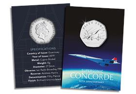 The 50th Anniversary of Concorde 50p coin