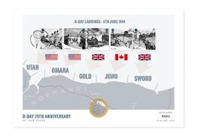 D-Day 75th Anniversary UK Coin Cover