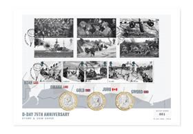 D-Day 75th Anniversary Stamp and Coin Cover