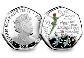 The Official Peter Pan Silver Proof 50p Coin