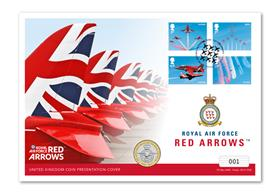 Red Arrows 2019 UK Coin Cover