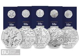 50th Anniversary of the 50p Military BU Set