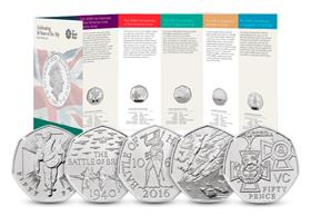 UK 2019 50 Years of the 50p Military BU Pack