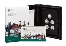 UK 2019 50th Anniversary of the 50p Military Base Proof Set